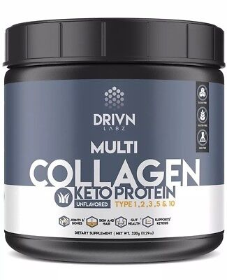 Keto Protein Powder & MCT Oil it Includes Hydrolyzed Collagen Peptides Marine