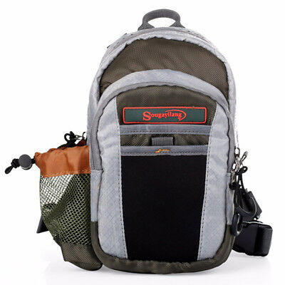Fishing Tackle Bag Chest Waist Bag Pack Outdoor Messenger Sling Bag Fly Fishing
