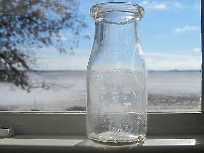 Vintage Frey Dairy  Gilman, Illinois  Half Pint  Milk Bottle
