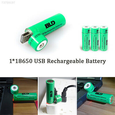 DEA3 18650 Battery USB Charging 3800mAh Li-Ion Battery Rechargeable Battery