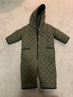 Polo By Ralph Lauren 12 Months Brown Quilted Snow Outfit