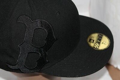 2fe07698181f8 ... fitted blackout all black hat billion creation streetwear 123e3 9c26d   france boston red sox new era mlb sidewinger 59fiftycaphat rare bcf09 7c387