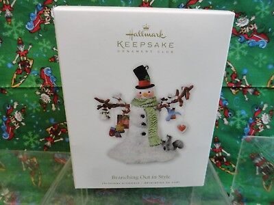 Hallmark Keepsake Ornament Club 2010 Branching Out in Style Snowman NEVER OPENED