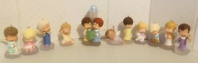 Hallmark Mary's Angels Christmas Ornament Lot of 11 No Boxes 1991-2008 No res