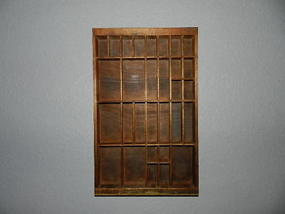 Nice Antique Small Wooden Printers Tray/Drawer Shadow Box Great Condition 16 1/2