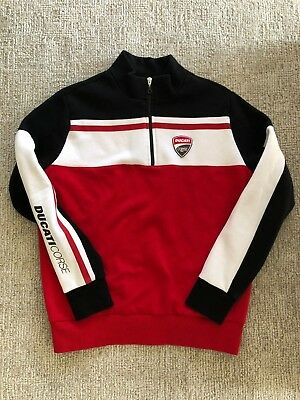 Ducati Corsa Motorcycle Sweater 1/4-Zip Pullover Mens Large - USED