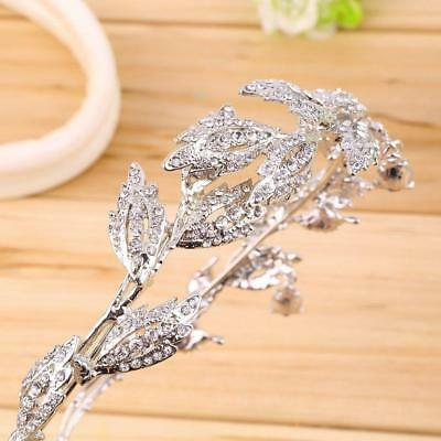 Elegant Bridal Rhinestone crystal prom hair chain forehead band Headpiece GL