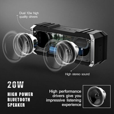 Portable Wireless Bluetooth Speaker Waterproof Stereo Power BASS 20W 4400mAh