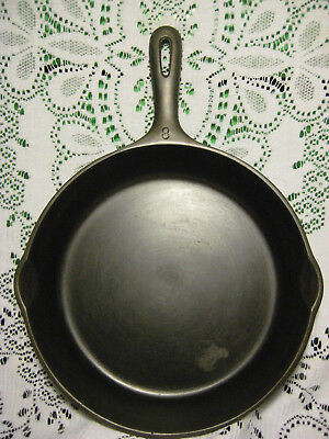 Vintage Unmarked Wagner Ware No. 8 Cast Iron Skillet Smooth & Fully Restored NR!