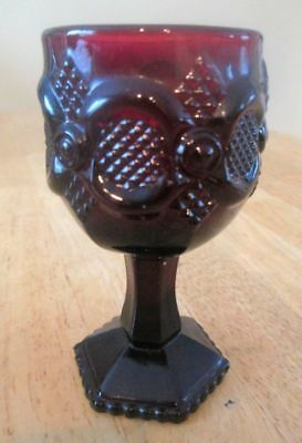 """AVON Collectible Ruby Red GOBLET 4.5"""" Tall Cape Cod Excellent Condition"""
