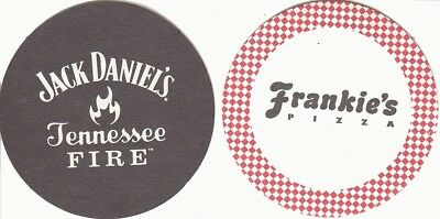 Jack Daniels Tennessee Fire Australian issued Round Beer Coaster - Beer Mat