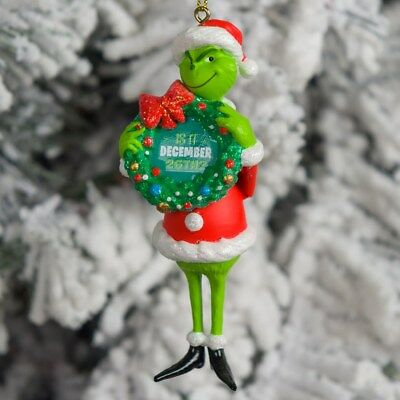 2018 Grinch With Wreath Is It December 26th? DR SEUSS   Ornament New