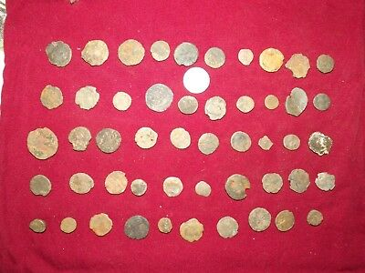 LOT OF 50 ANCIENT BRONZE ROMAN COINS Uncleaned Mid-Low Grade WWII North Africa 4