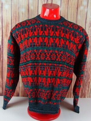 eb9dcc8a1e292 Vintage 90s Ironwood Size Large Sweater Christmas Ugly Coogi Style Red Blue