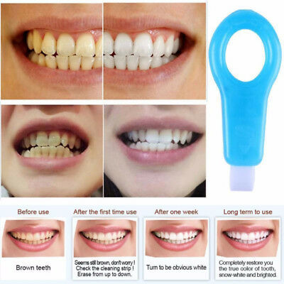 Pro Nano Teeth Whitening Kit Cleaning Brush Tooth Stains Remover Strip Refill UK