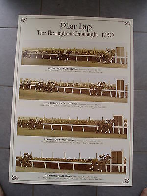 Phar Lap - The Flemington Onslaught 1930 - Poster