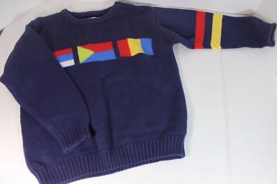 Vintage Retired Gymboree Primary Color Block Flag Sweater Large 4/5 FALL/WINTER