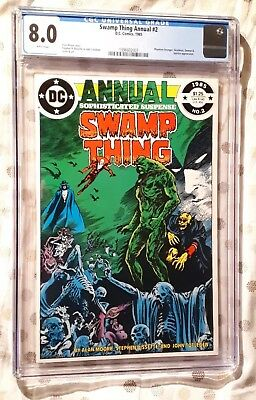 Swamp Thing Annual #2 - Justice League Dark. Cgc 8.0 1985 Dc
