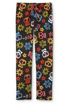 Disney COCO Pajama Pants Women's Large L NeW Soft Lounge Pjs Sugar Skulls NWT