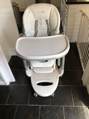 Peg Perego Baby / Kids / Childs Tatamia Highchair White