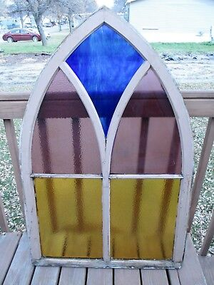 Antique Gothic Arched 5 Pain Stained Glass House Windows Customer pickup Only