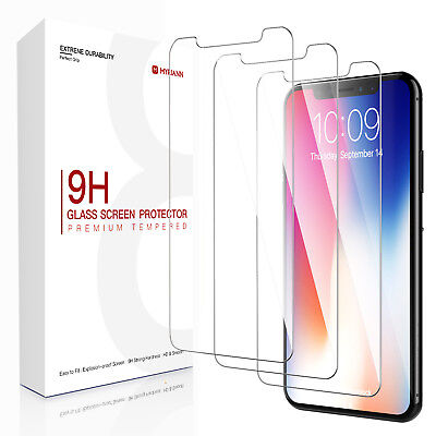 [3-Pack] Tempered Glass Screen Cover Protector Saver For Apple iPhone X 7 8 6s 6