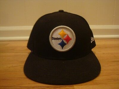 Pittsburgh Steelers hat cap New Era 7 7 8 Fitted Shield Logo sideline NFL  black 22a84e940