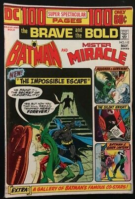 THE BRAVE and THE BOLD 112 NM 9.4 (DC, 1974) Key Issue Batman/Mister Miracle