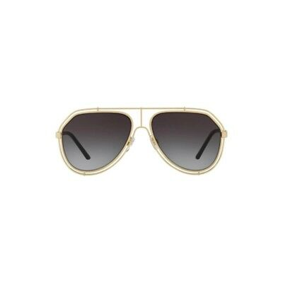 37103f39d363 New Dolce  amp  Gabbana Aviator Sunglasses DG2176 488 8G Gold Grey Gradient  Lens