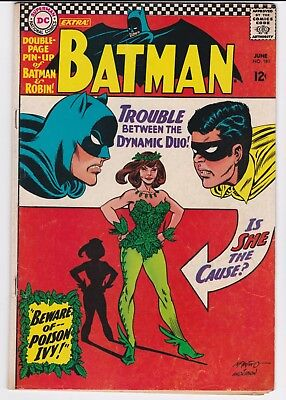 Batman #181 1St Appearance Poison Ivy Fn+. Pinup/centerfol Firmly Attached