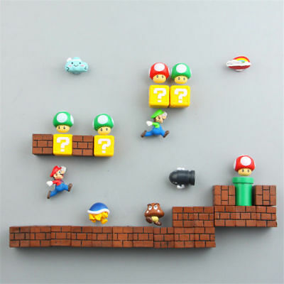 DIY SUPER MARIO Anime Action Figure Magnet Puzzle Magnetic Toys Home Decor