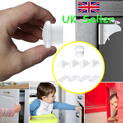 Invisible Magnetic Child Pet Baby Proof Cupboard Door Drawer Safety Locks Catch
