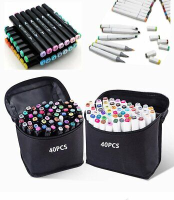 30 40 60 80 Color Set Alcohol Graphic Art Twin Tip Marker Pens Art Painting Draw
