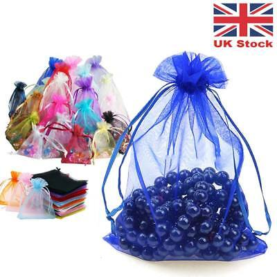 100 Small Organza Gift Bag Jewellery Pouch XMAS Wedding Party Candy Favour 7x9cm