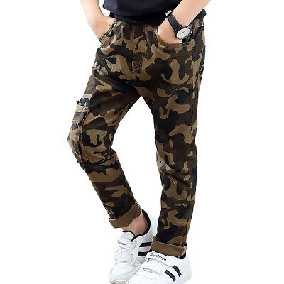 NABER Kids Boys Leisure Camouflage Trousers Elastic Waistband Pants Size 4-11 Y