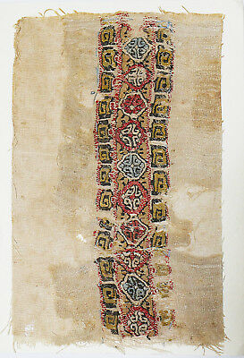 4-8C Ancient Coptic Textile Fragment- Part of Clothes, Christian Arts