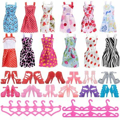 Barbie Doll Accessories Mattel Dolls Fashion Design Dresses Shoes Hangers Girls