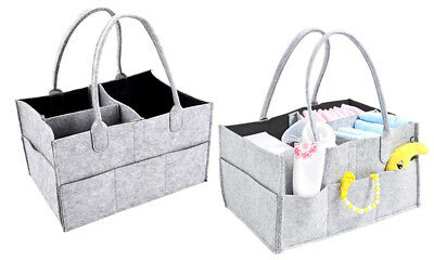 Nappy Organiser Storage Basket Baby Portable Caddy Changeable Compartments