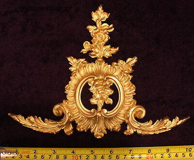 French Antique Louis Xv Gold Gilt Dore Resin Wall Frame Moulding Decoration