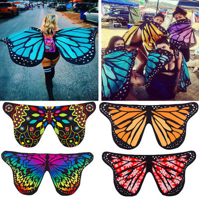 US Stock Cosplay Butterfly Wings Dress Up Fabric Costume Pretend Play Gift