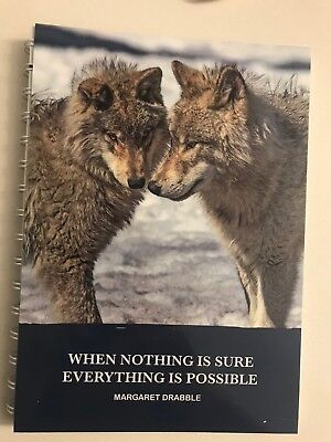 2019 diary snow dogs with quote A5