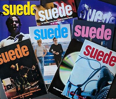 Suede 8 x Fan Club Mags (1996-2002)