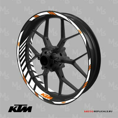 KTM DUKE RC wheel decals tape stickers 125 200 250 390 Reflective 17 rim stripes