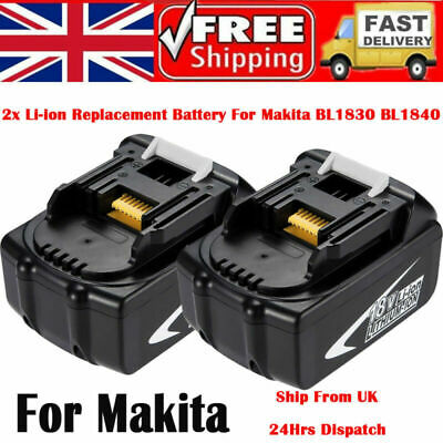 2X 4AH 18V Li-ion Battery for Makita BL1815 BL1830 BL1840 BL1850 BL1860 194205-3
