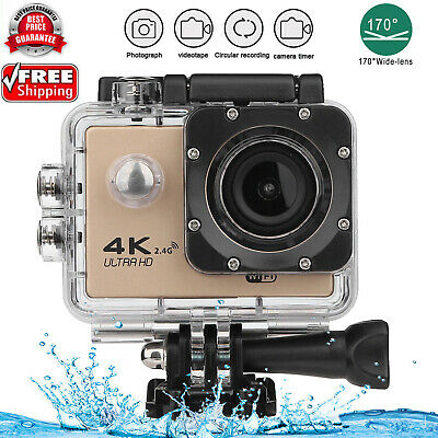 4K WIFI Waterproof Action Camera HD 1080P 16MP 170° Sports DV Camera for GOPRO