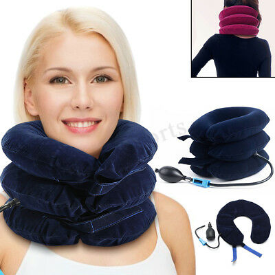 Inflatable Blow Up Neck Head Rest Pillow Medical Cushion Support Flight