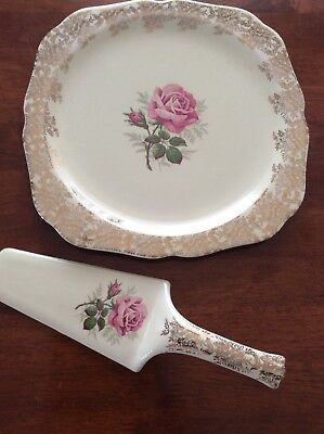 Antique Lord Nelson England Cake Plate & Server