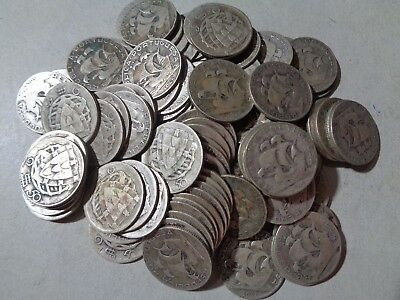 Portugal 100 X 2$50 Silver Coins Lot