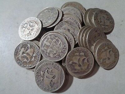 Portugal 50 X 5$00 Silver Coins Lot