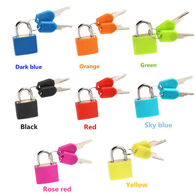 Small Padlock With Two Keys Travel Suitcase Luggage Security Locks